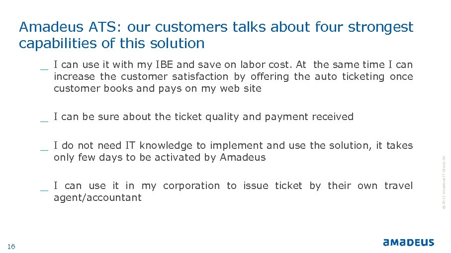 Amadeus ATS: our customers talks about four strongest capabilities of this solution _ I