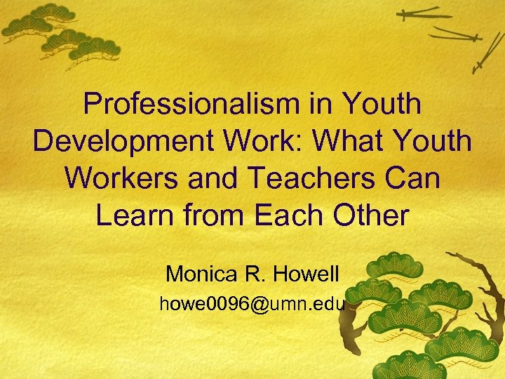 Professionalism in Youth Development Work: What Youth Workers and Teachers Can Learn from Each