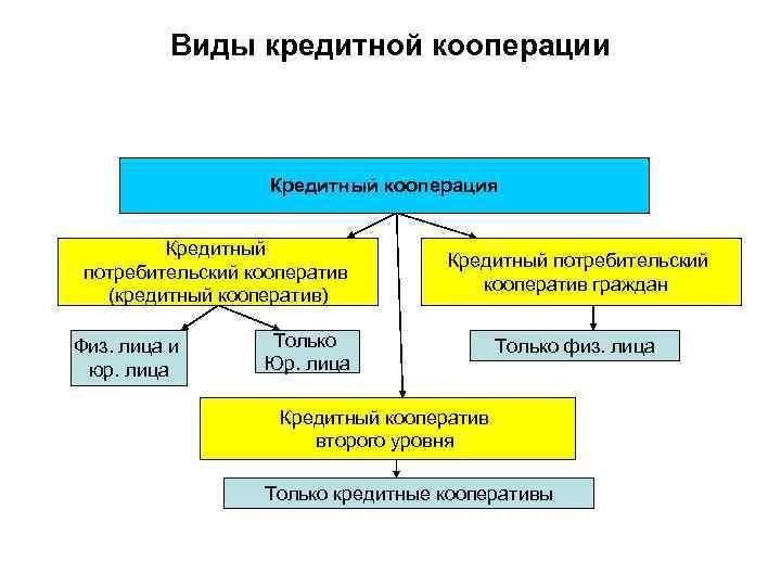 виды кредитных потребительских кооперативов