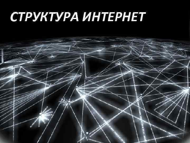 СТРУКТУРА ИНТЕРНЕТ