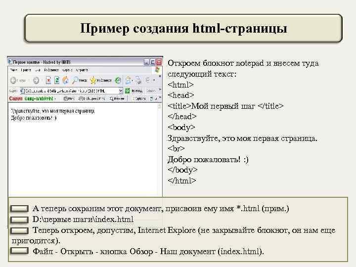 Пример создания своего сайта на html создание сайта сетка