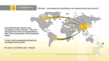 Китай – всемирная фабрика по производству всего! Более 85% бытовой техники в США произведено