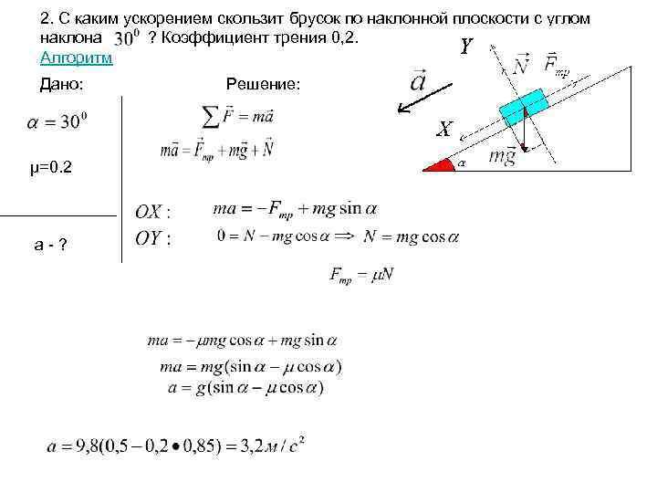 Алгоритм решения задач на динамику урок решение задач на деление