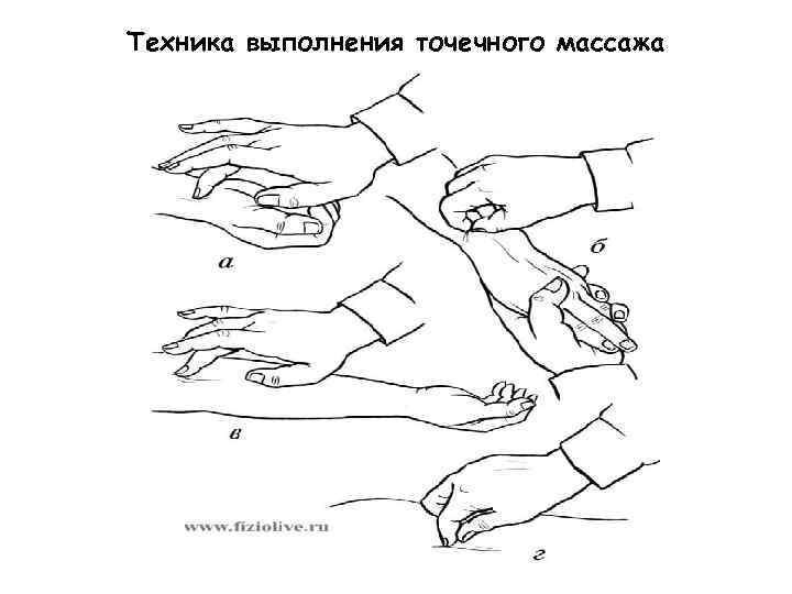 выполнения точечного массажа гдзс основы