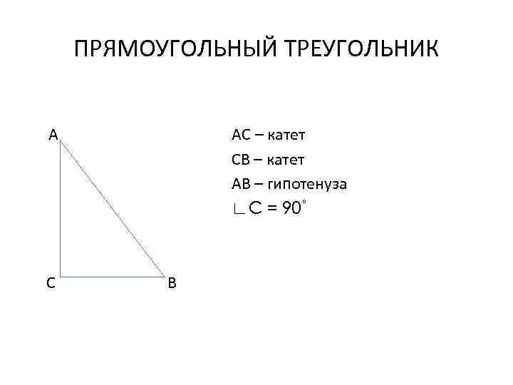 катеты прямоугольного треугольника картинки верх свитера