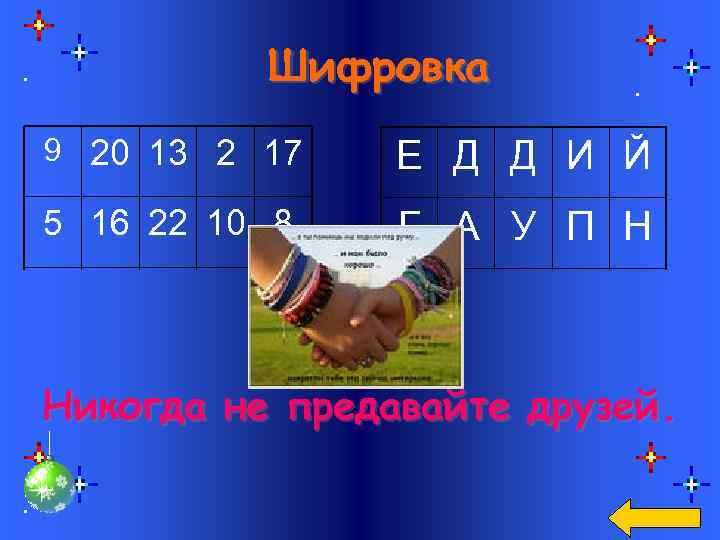 Шифровка 9 20 13 2 17 Е Д Д И Й 5 16 22