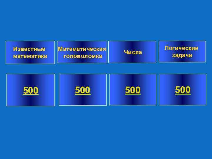 Известные математики Математическая головоломка Числа Логические задачи 500 500