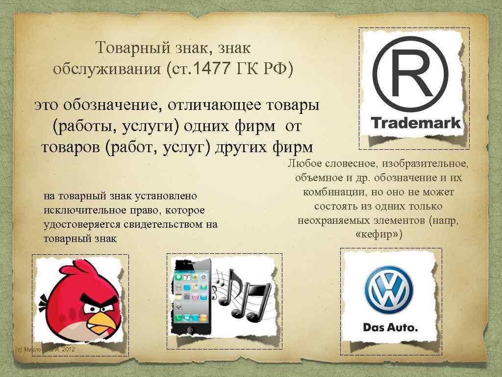 гражданский кодекс товарные знаки