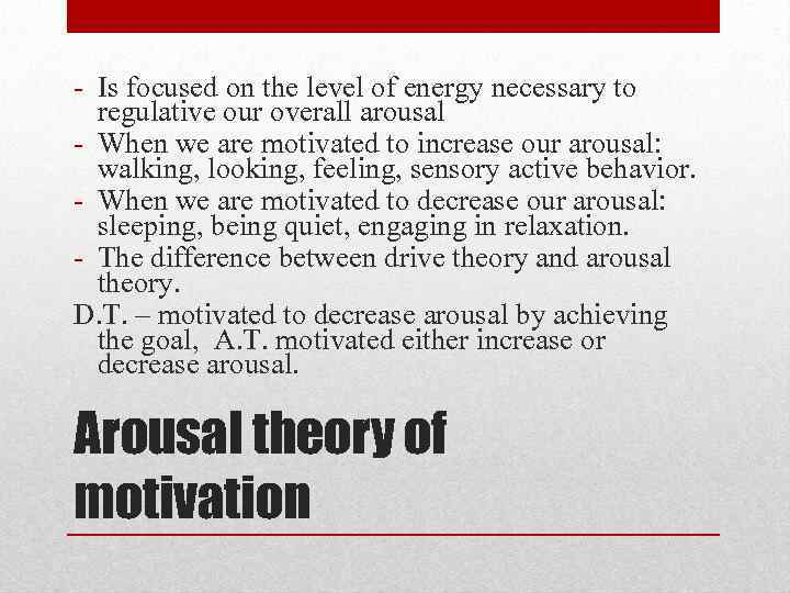 drive theory arousal