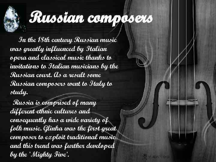 The great Russian peoples  The great composers  Presentation