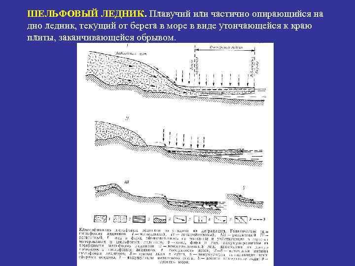 ШЕЛЬФОВЫЙ ЛЕДНИК. Плавучий или частично опирающийся на дно ледник, текущий от берега в море
