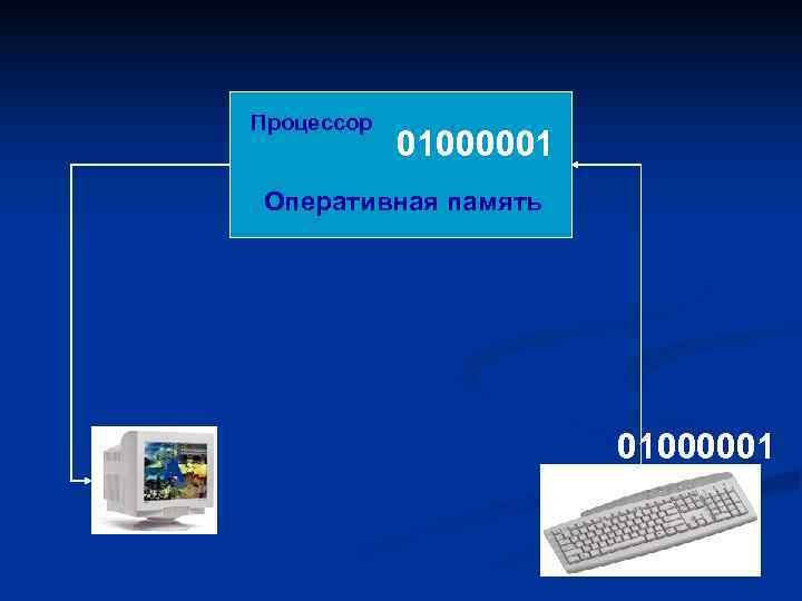 Процессор   01000001 Оперативная память      01000001