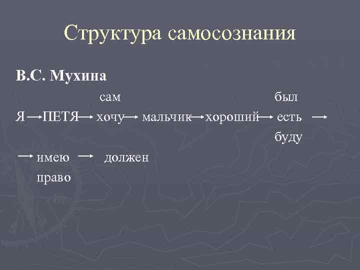 Структура самосознания В. С. Мухина   сам