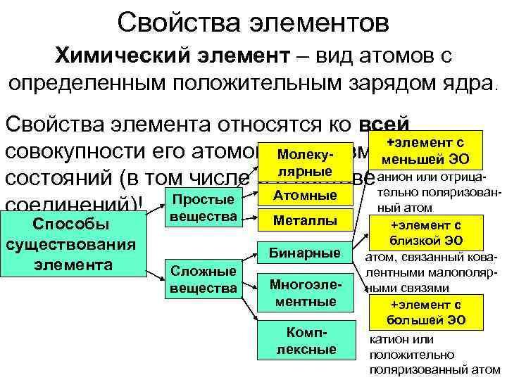 Свойства элементов Химический элемент – вид атомов с определенным положительным зарядом ядра.