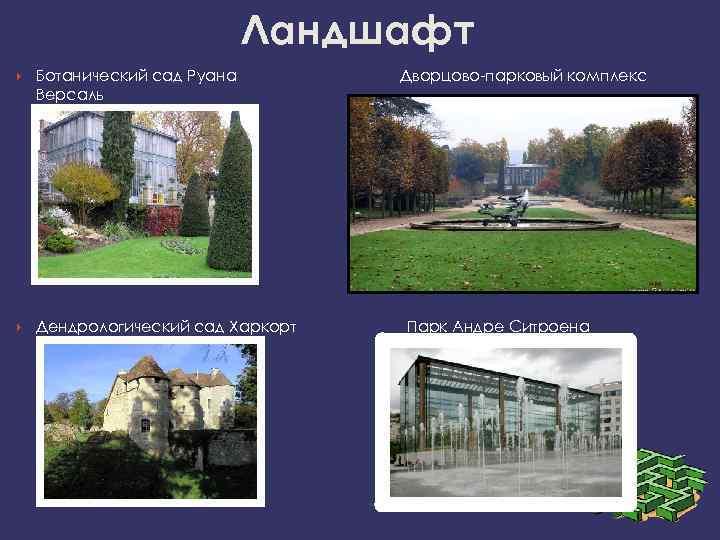 Ландшафт Ботанический сад Руана   Дворцово-парковый комплекс Версаль