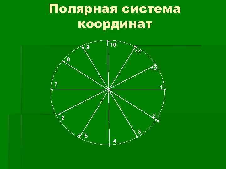 Полярная система  координат   9  10     11