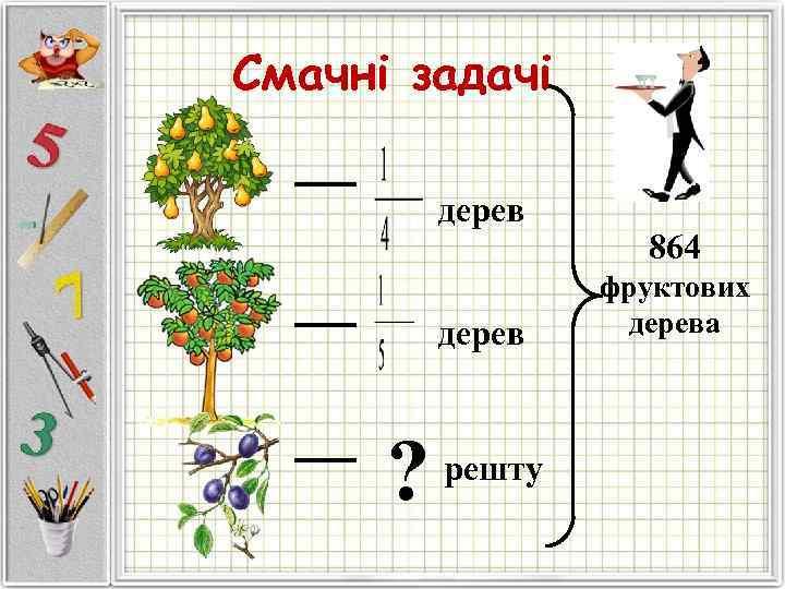 Смачні задачі  дерев     864    фруктових
