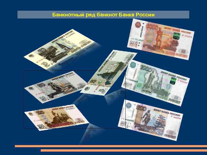 Банкнотный ряд банкнот Банка России