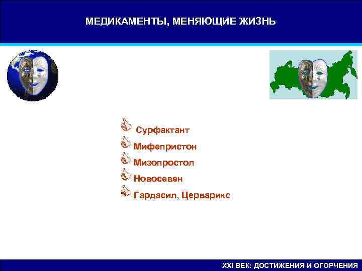 МЕДИКАМЕНТЫ, МЕНЯЮЩИЕ ЖИЗНЬ   C Сурфактант C Мифепристон C Мизопростол C Новосевен C