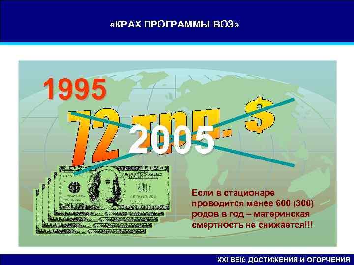 «КРАХ ПРОГРАММЫ ВОЗ» 1995   2005    Если в