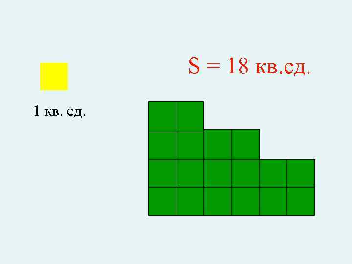 S = 18 кв. ед. 1 кв. ед.