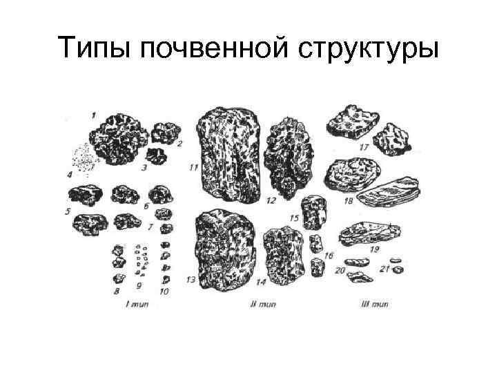 Типы почвенной структуры