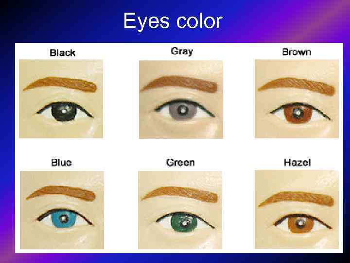 >Eyes color