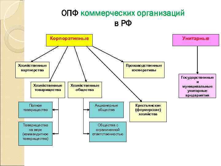 ОПФ коммерческих организаций
