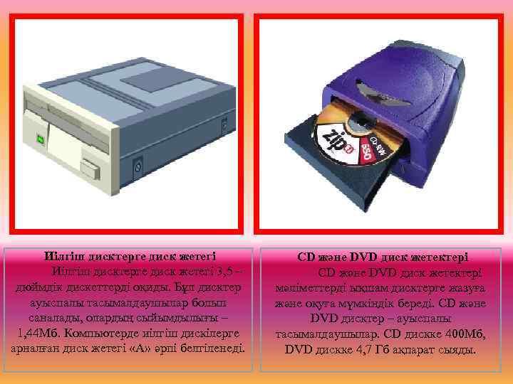 Иілгіш дисктерге диск жетегі   CD және DVD диск жетектері