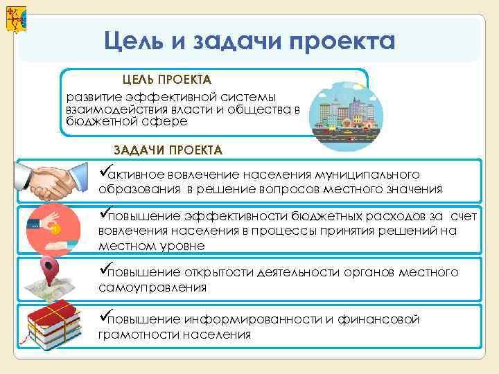 Цель и задачи проекта   ЦЕЛЬ ПРОЕКТА развитие эффективной системы взаимодействия власти