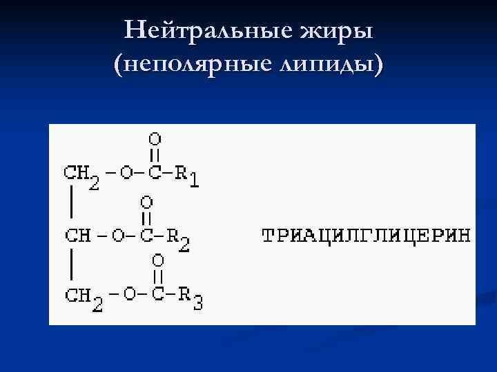 Нейтральные жиры (неполярные липиды)