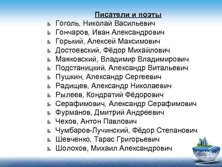 Писатели и поэты ь  Гоголь, Николай Васильевич ь