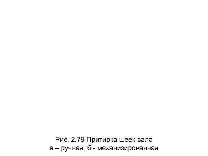 Рис. 2. 79 Притирка шеек вала а – ручная; б - механизированная