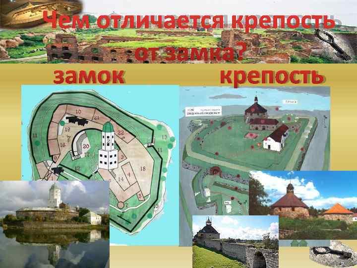 Чем отличается крепость  от замка?  замок  крепость