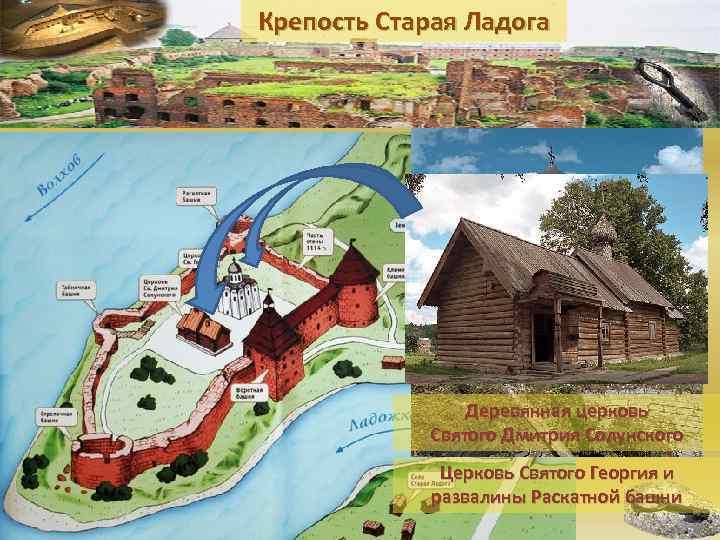 Крепость Старая Ладога     Деревянная церковь   Святого Дмитрия Солунского