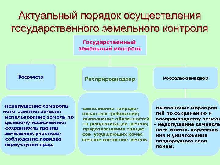 государственный земельный надзор функции