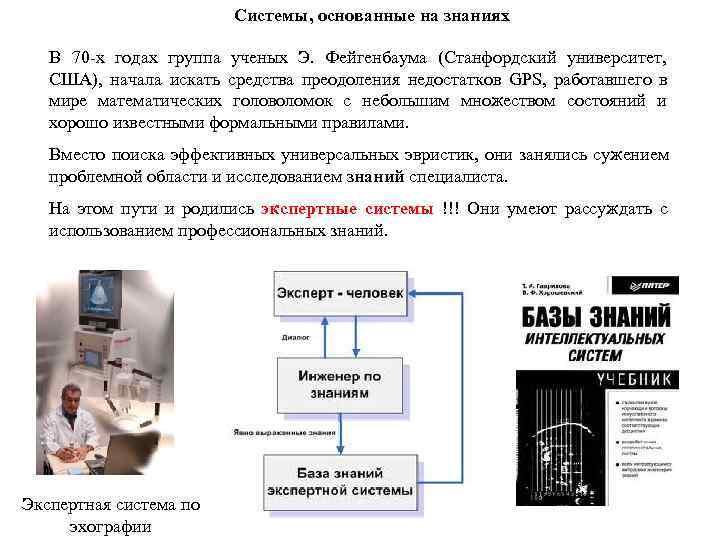 Системы, основанные на знаниях В 70 -х годах группа