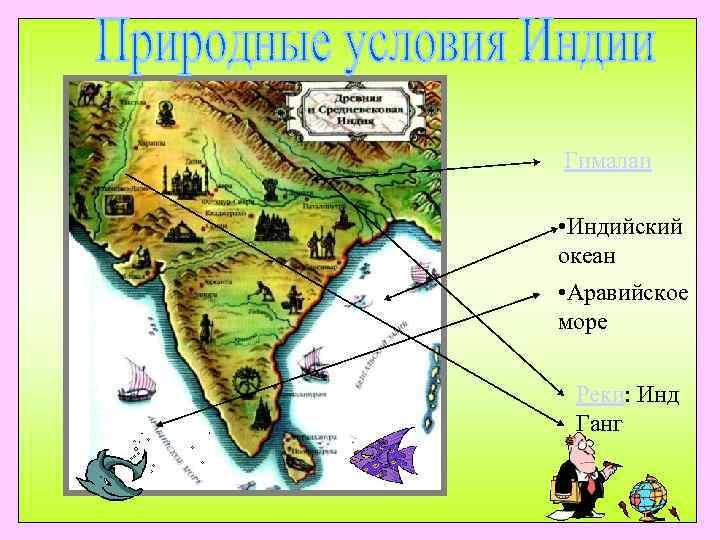 Гималаи  • Индийский океан • Аравийское море  Реки: Инд  Ганг