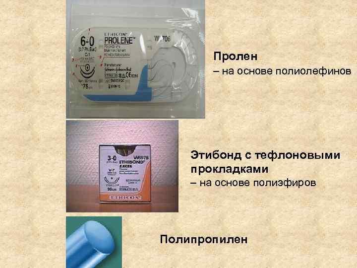 Пролен  – на основе полиолефинов   Этибонд с тефлоновыми прокладками