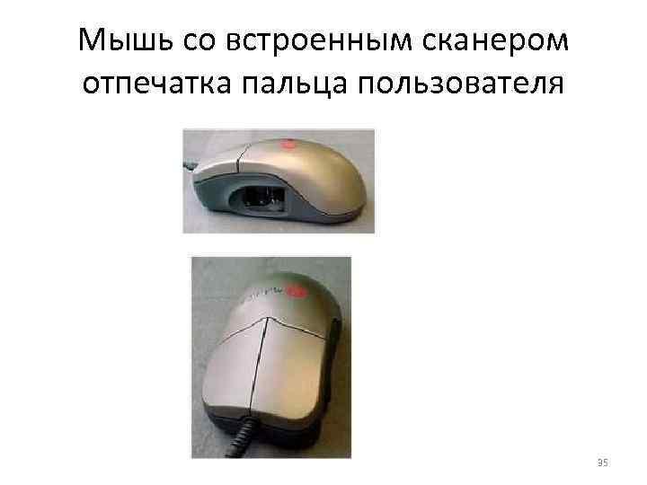 Мышь со встроенным сканером отпечатка пальца пользователя       35