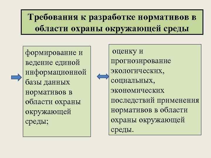Требования к разработке нормативов в области охраны окружающей среды формирование и ведение единой информационной