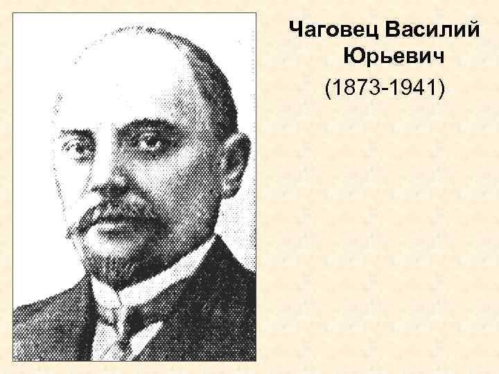 Чаговец Василий Юрьевич  (1873 -1941)