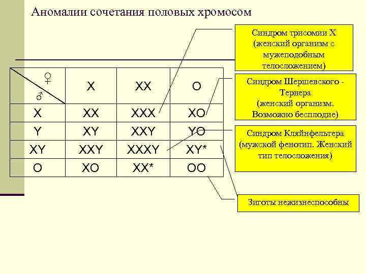 Аномалии сочетания половых хромосом    Синдром трисомии Х
