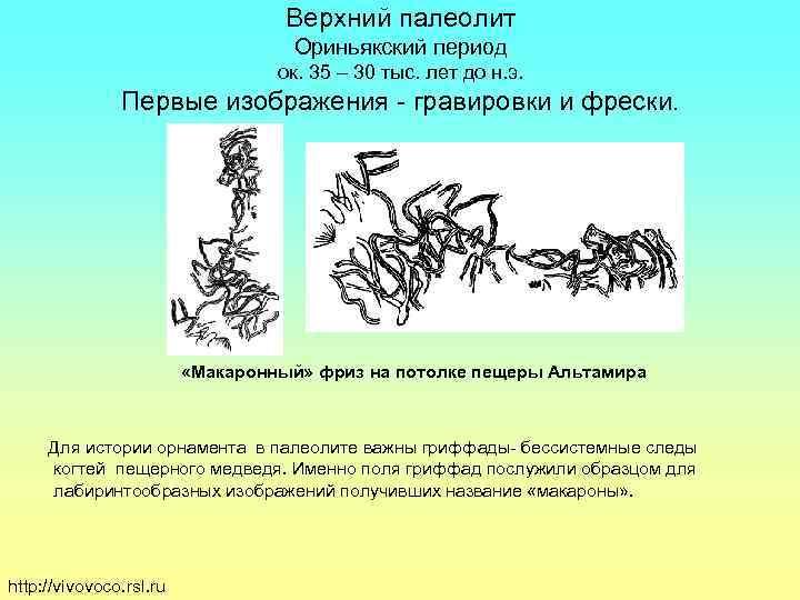Верхний палеолит      Ориньякский