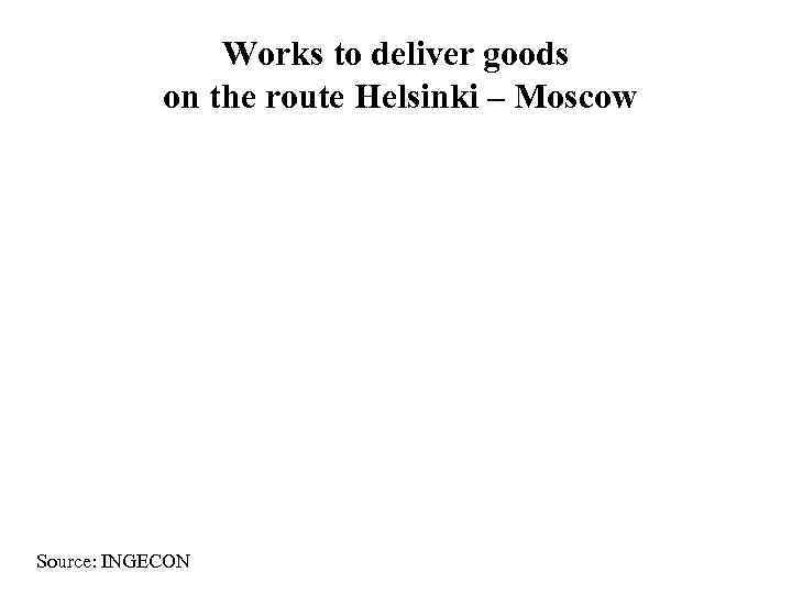 Works to deliver goods   on the route Helsinki