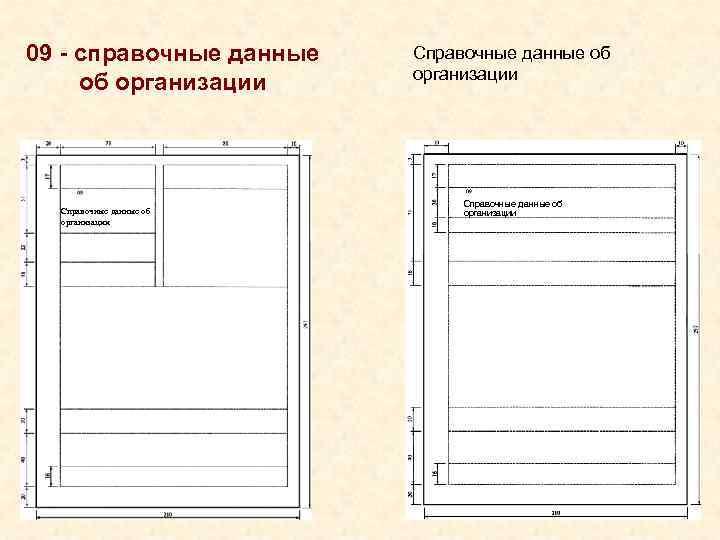09 - справочные данные  Справочные данные об     организации об