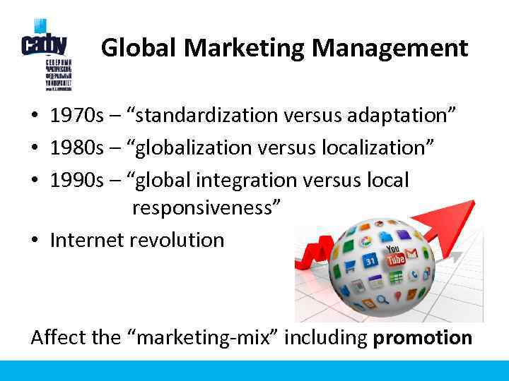 global versus localized marketing strategies essay Standarization versus adaptation globalization (standardization) developing standardized products marketed worldwide with a standardized marketing mix essence of mass marketing global localization (adaptation) mixing standardization and customization in a way that minimizes costs while maximizing satisfaction essence of segmentation think.