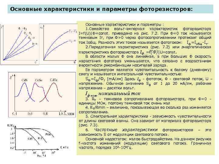может вызвать основные параметры фоторезистора годы над ней
