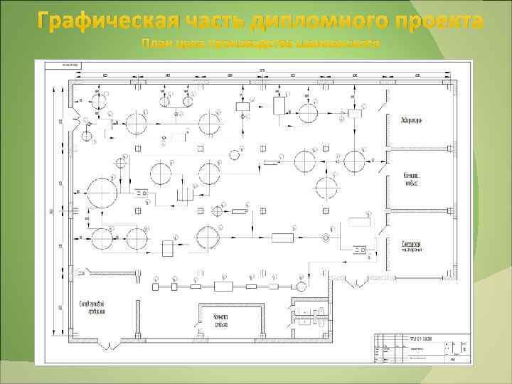 Графическая часть дипломного проекта План цеха производства шампанского