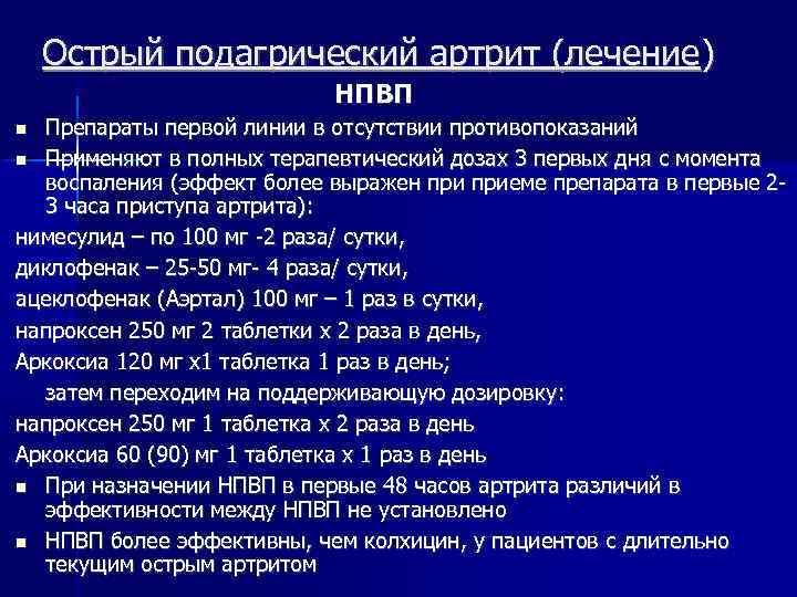 Подагра Острый Артрит Диета Лечение.